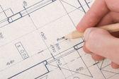 Fényképek a blueprint építész