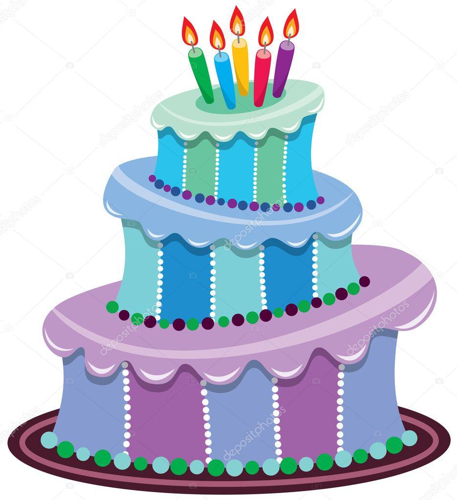 Cool Photo Big Birthday Cake Big Birthday Cake Stock Vector Funny Birthday Cards Online Alyptdamsfinfo