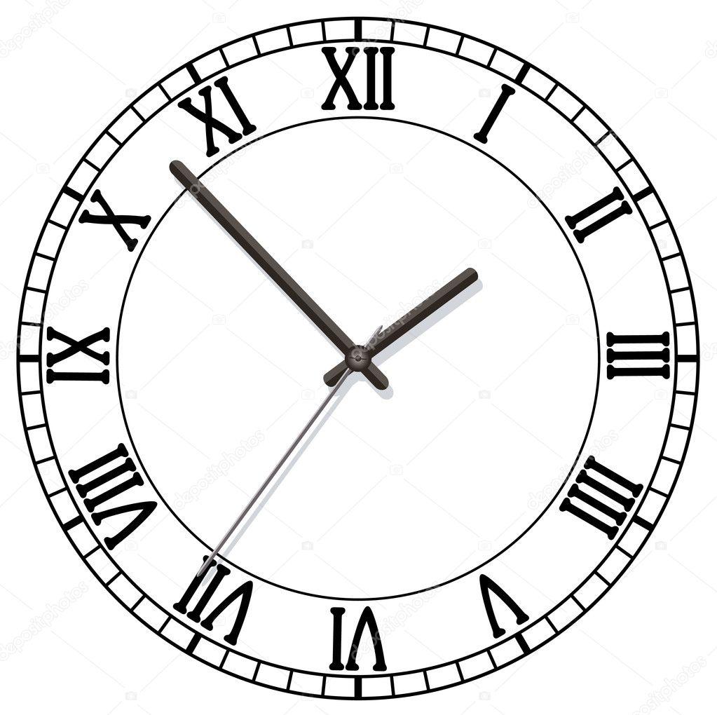 Uhr römische zahlen  Zifferblatt mit römischen Zahlen — Stockvektor #6377161