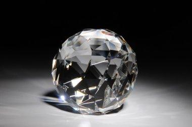 Shining crystal round shape