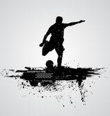 Fotografie fotbalový hráč vektor