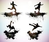 Fotografie soccer player vector
