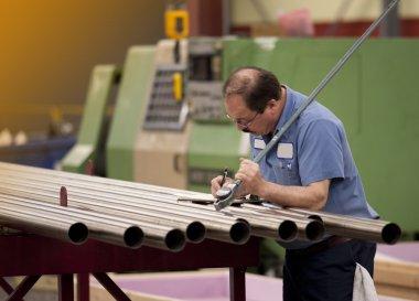 Machinist in a factory