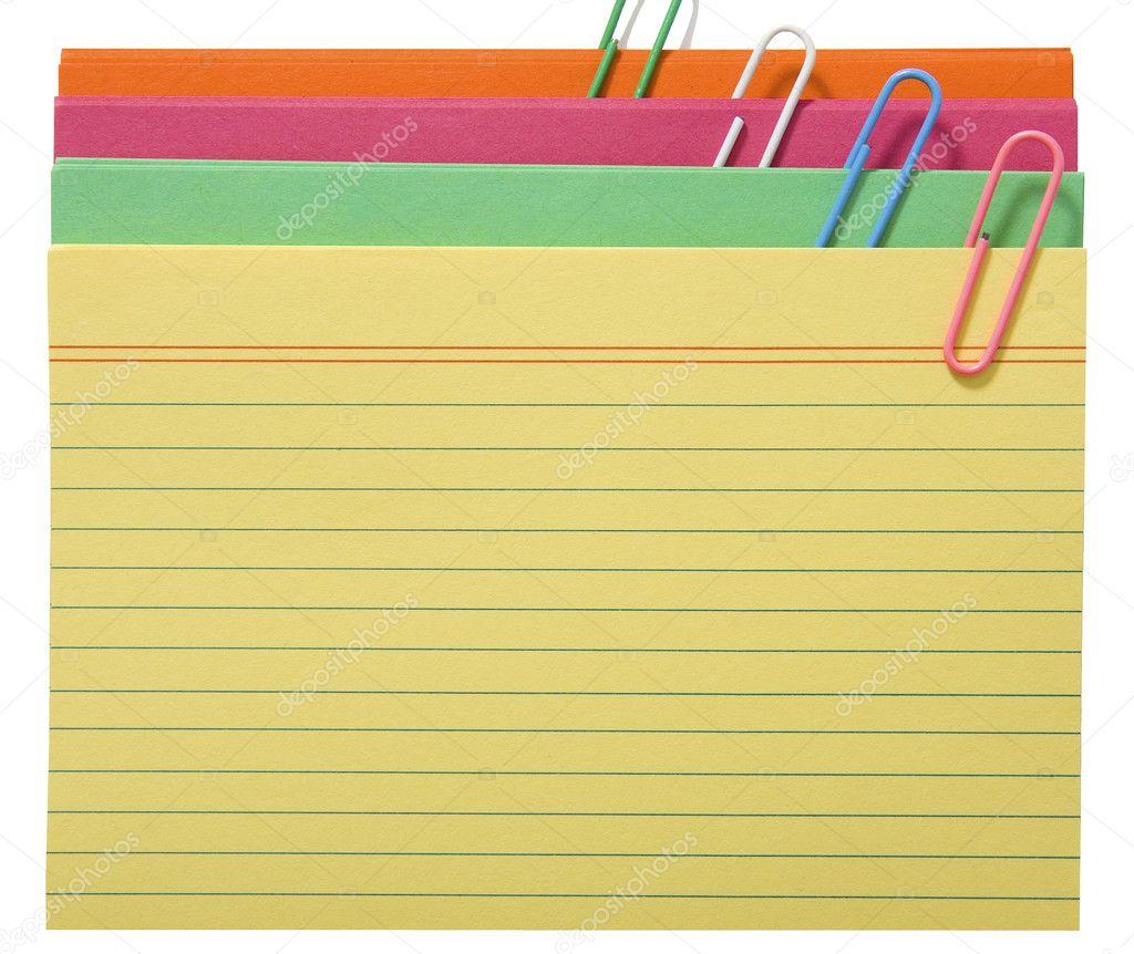 tarjetas en blanco para notas — Fotos de Stock © stuartmiles #6494532