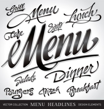 Menu headlines (vector)