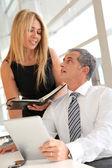 Manažer a asistent, práce v kanceláři