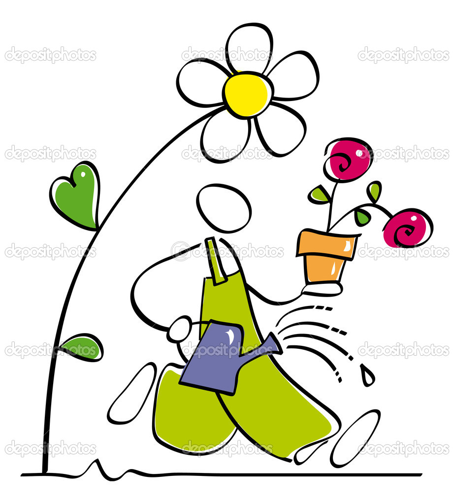 Funny gardener