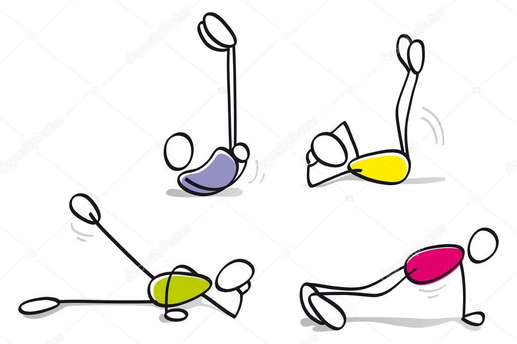 Resultado de imagen de dibujo ejercicio fisico