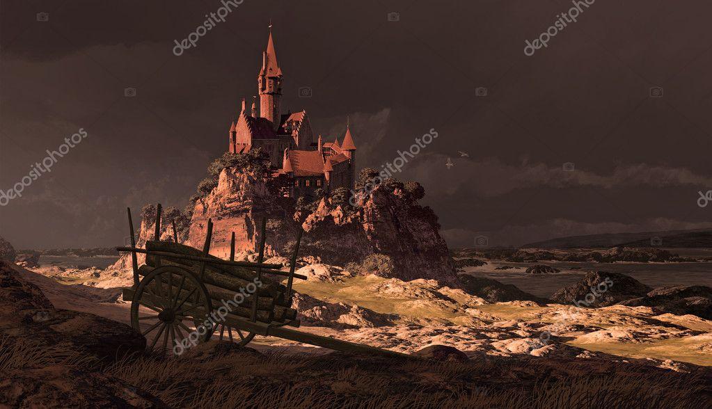 French Coastline Castle