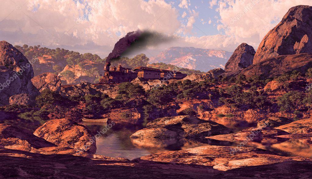 Old West Steam Locomotive