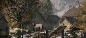 ein Alter Bauernhof in den Schweizer Alpen