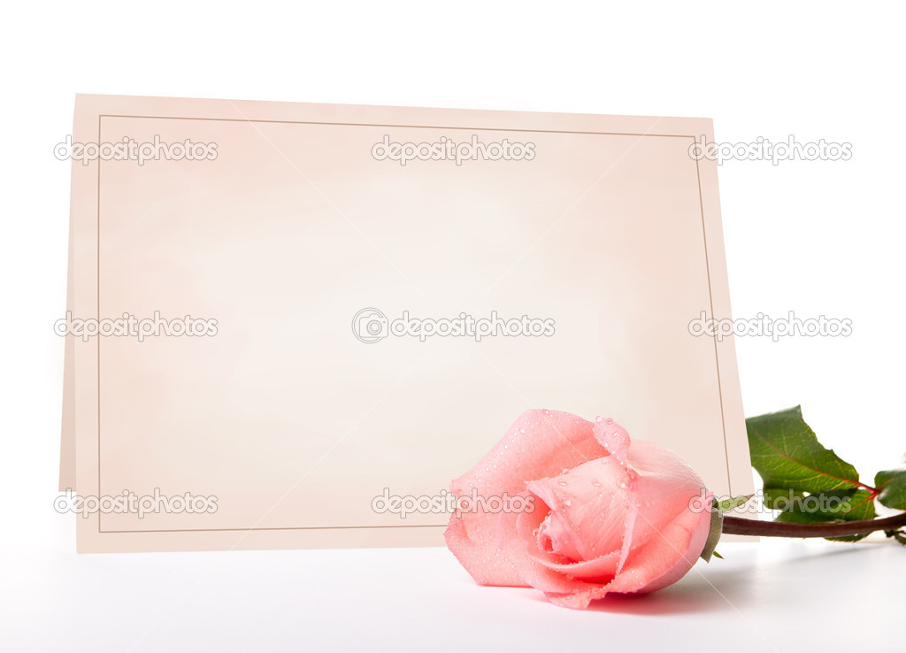 Blank card for congratulations