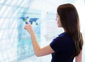 Fotografia schermo computer futuristico