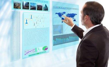 Futuristic Multi Touch Computer Panel