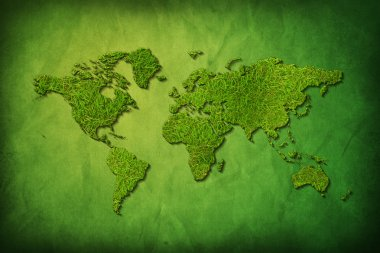 Global map with grass texture