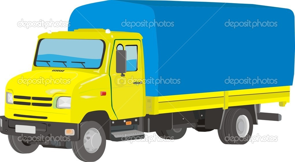 Lorry isolated on white
