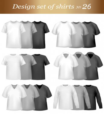 Black, white and grey men polo and t-shirts.