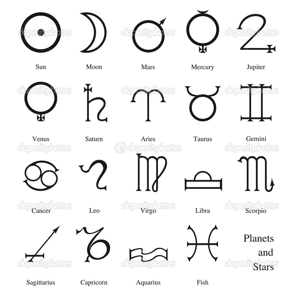 Astrological Symbols Stock Vector Patpat 6037998