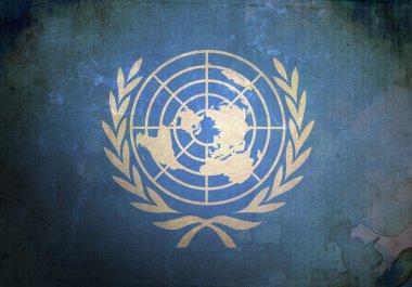 Grunge United Nations Flag