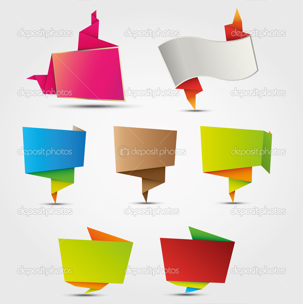 Abstract origami labels