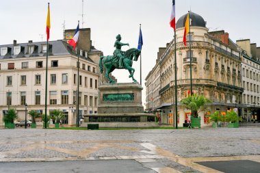 Monument of Joan of Arc in Orleans, France