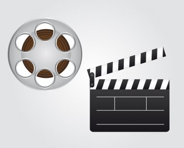 clapper board and video film