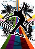 Fotografie abstrakt Design mit Skateboarder Silhouette sommer