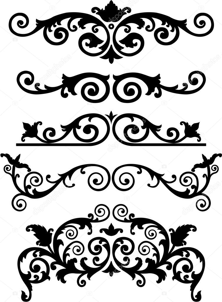 Vector ornament in monogram style. clipart vector
