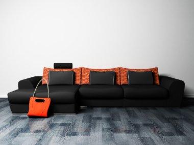 Modern interior design of living room