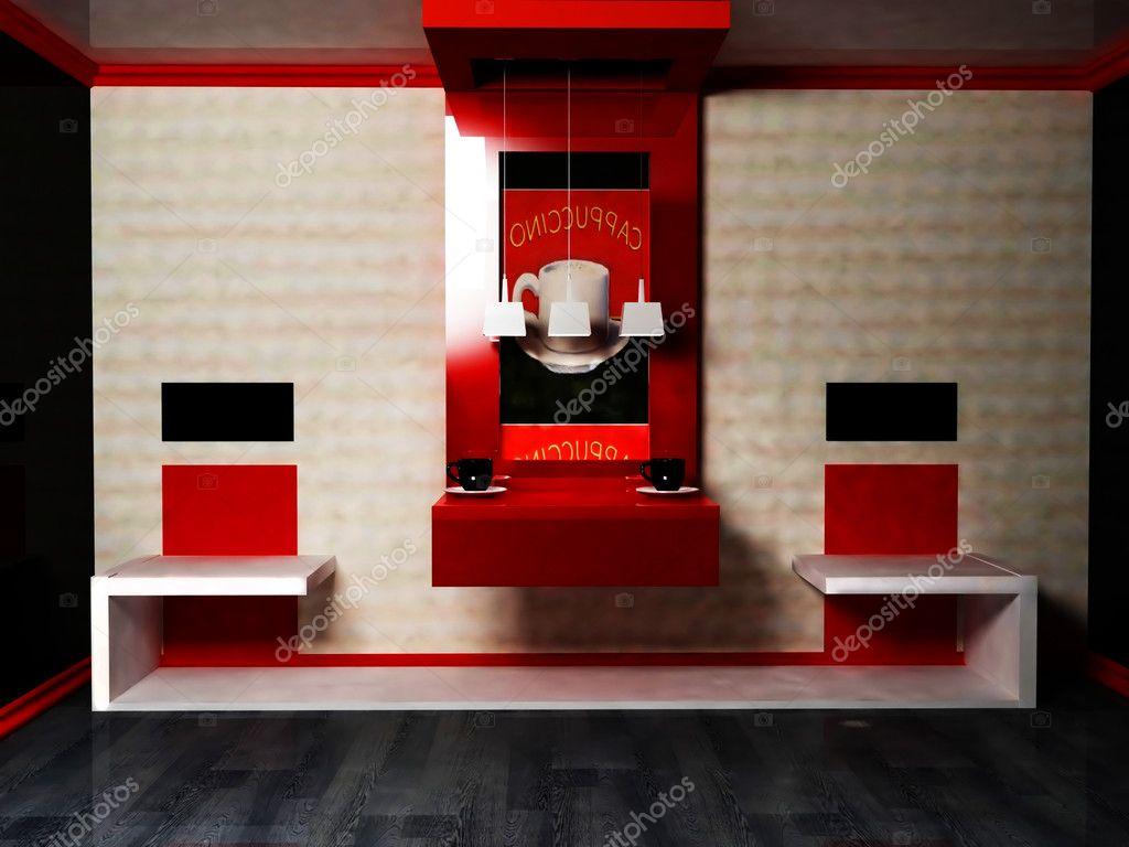 Moderne Innenarchitektur Wohnzimmer Oder Caf Oder