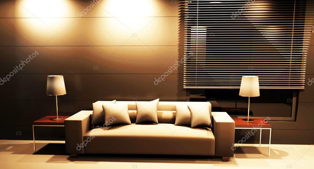 Moderno design d 39 interni del salotto foto stock for Immagini design interni