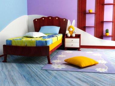 A bright children room
