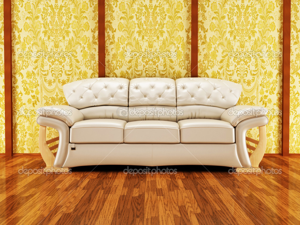 Nice Sofa A Nice Royal Sofa On The Vintage Background  Stock Photo