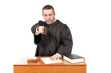 Judge reading a sentence