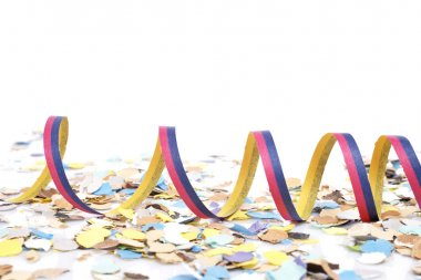 Confetti and ribbons