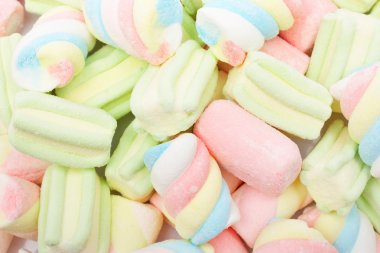 Multicolored marshmallows background