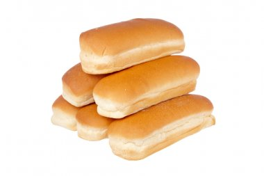 Pile of buns for hot dog