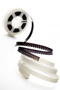 A reel of 8mm film on white stock vector