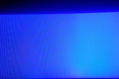 Authentic blue static on a TV screen
