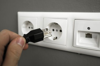 Inserting plug