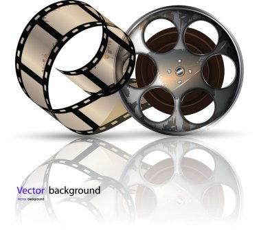Video film tape on disc vector format