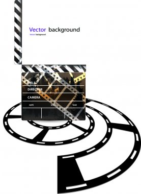 Vector format movie clapper board
