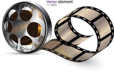 Video film tape on disc vector format stock vector
