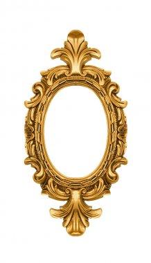 Oval vintage gold ornate frame