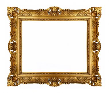 Golden vintage picture frame