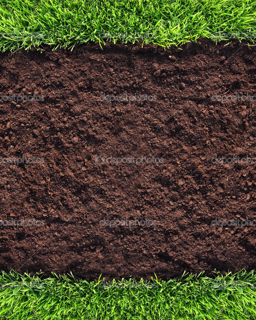 Healthy grass and soil pattern stock photo ninamalyna for Where can i find soil