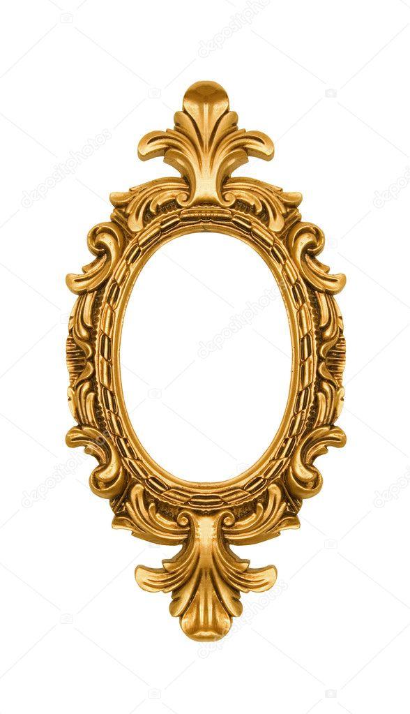 marco adornado de oro oval vintage — Fotos de Stock © NinaMalyna ...