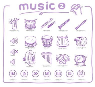 Hand drawn musical instrument icon