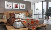Fotografie ložnice v moderním městském domě