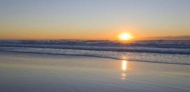 Sun rising on the beach at Salt NSW stock vector